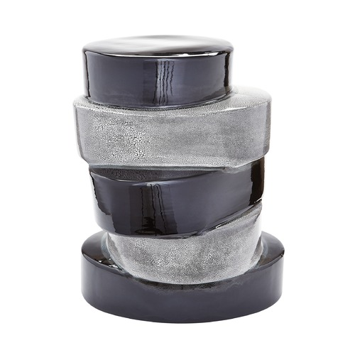 Dimond Lighting Stacked Ovals Side Table In Black And Grey 857105