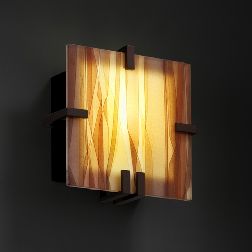 Justice Design Group Justice Design Group Clips Family Dark Bronze Sconce 3FRM-5550-TWRL-DBRZ