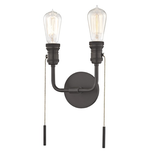 Mitzi by Hudson Valley Industrial Edison Bulb Sconce Bronze 7.5-Inch by Hudson Valley Lighting H106102-OB