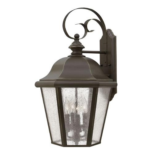 Hinkley LED Seeded Glass Outdoor Wall Light Bronze 25.5 Inches Tall by Hinkley 1675OZ-LL