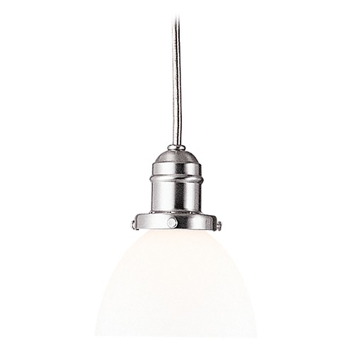 Hudson Valley Lighting Mini-Pendant Light with White Glass 3101-SN-823