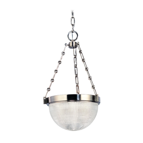 Hudson Valley Lighting Pendant Light with Clear Glass in Satin Nickel Finish 4413-SN