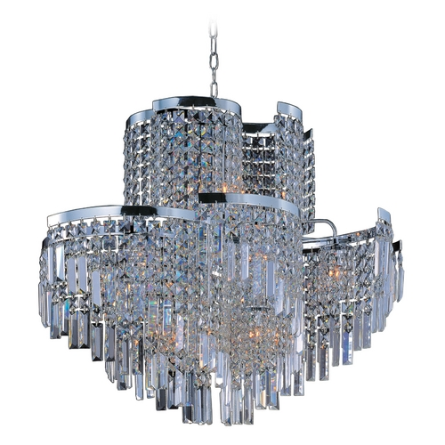 Maxim Lighting Pendant Light with Clear Glass in Polished Chrome Finish 39806BCPC