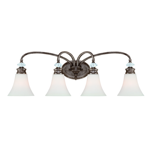 Jeremiah Lighting Jeremiah Boulevard Mocha Bronze, Silver Accents Bathroom Light 26704-MB