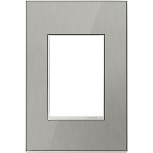 Legrand Adorne Legrand Adorne Brushed Stainless 1-Gang 3-Module Switch Plate AWM1G3MS4