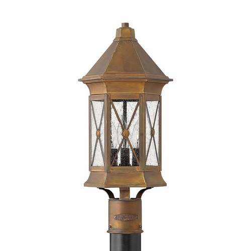 Hinkley Lighting Post Light with Clear Glass in Sienna Finish 2291SN