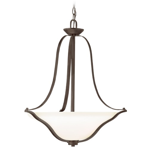 Kichler Lighting Kichler Pendant Light with White Glass in Olde Bronze Finish 3384OZ