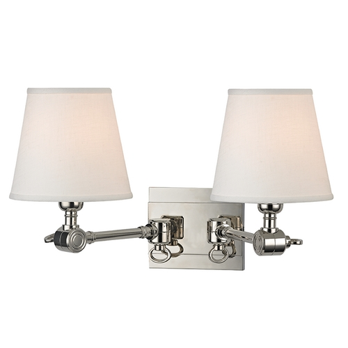 Hudson Valley Lighting Hudson Valley Lighting Hillsdale Polished Nickel Swing Arm Lamp 6232-PN