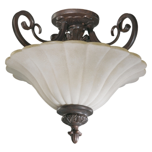 Quorum Lighting Quorum Lighting Coronado Gilded Bronze Semi-Flushmount Light 2895-17-38