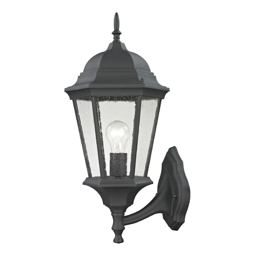 Cornerstone Lighting Seeded Glass Outdoor Wall Light Black Cornerstone Lighting 8111EW/65