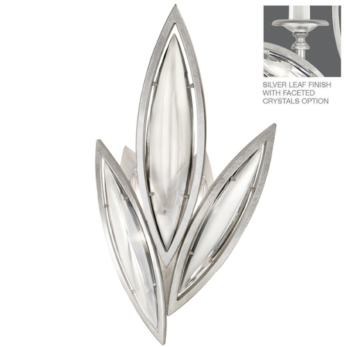 Fine Art Lamps Fine Art Lamps Marquise Platinized Silver Leaf Sconce 854250-12ST