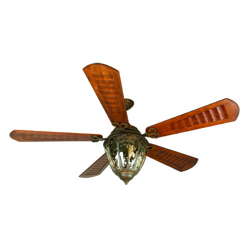 Craftmade Lighting Craftmade Lighting Olivier Aged Bronze Textured Ceiling Fan with Light K10338
