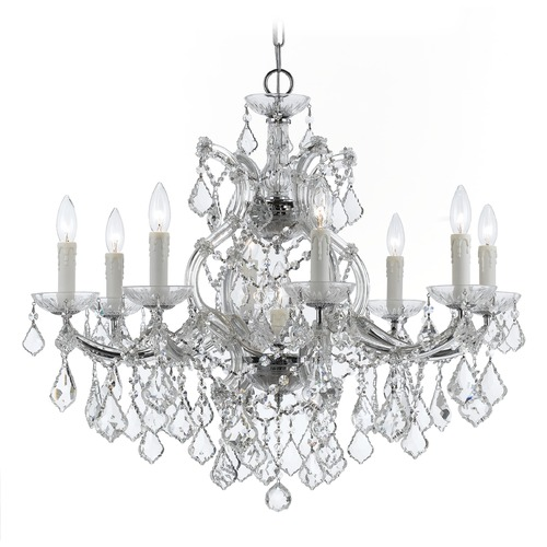 Crystorama Lighting Crystorama Lighting Maria Theresa Polished Chrome Crystal Chandelier 4408-CH-CL-SAQ