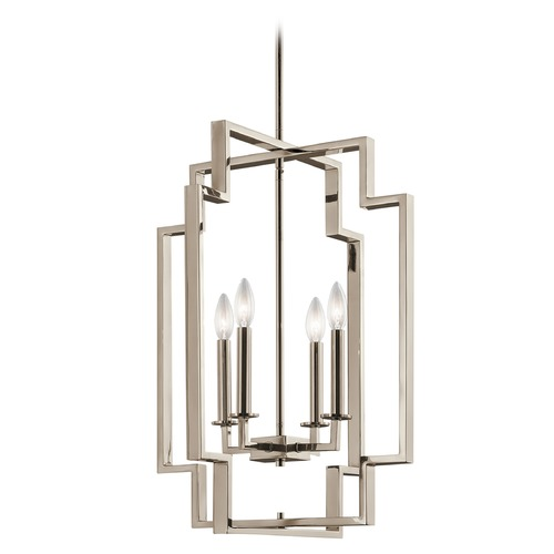 Kichler Lighting Kichler Lighting Downtown Deco Polished Nickel Pendant Light 43965PN