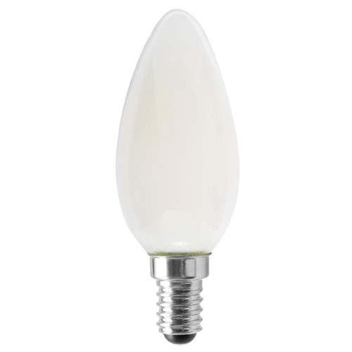 Satco Lighting Satco 4.5 Watt B11 LED Frosted 350 Lumens 3000K European Base 120 Volt Dimmable S12117