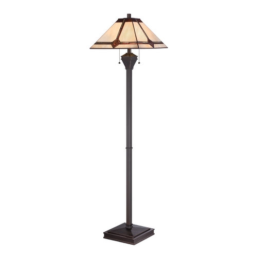 Lite Source Lighting Lite Source Lighting Karysa Bronze Floor Lamp with Square Shade LS-82040