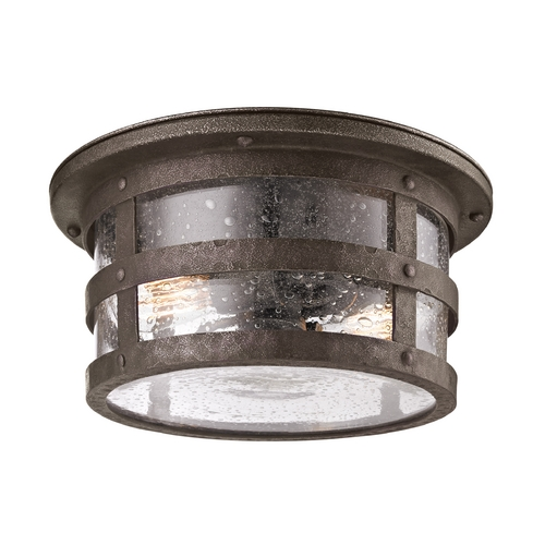 Troy Lighting Close To Ceiling Light with Clear Glass in Barbosa Bronze Finish C3310