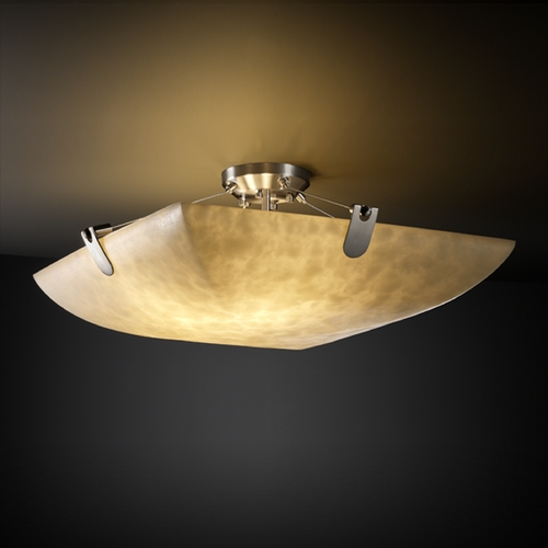 Justice Design Group Justice Design Group Clouds Collection Semi-Flushmount Light CLD-9612-25-NCKL