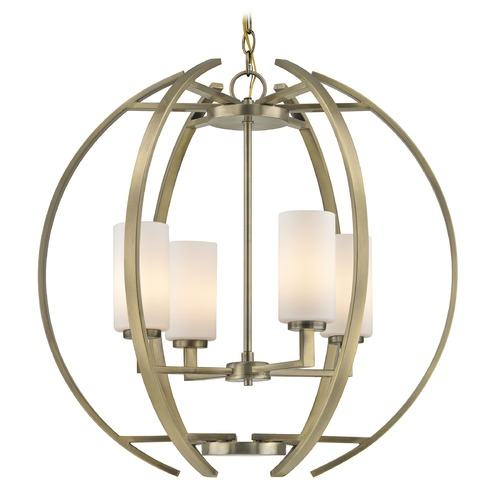 Design Classics Lighting Design Classics Serenity Antique Brass Pendant Light with Cylindrical Shade 1690-AB