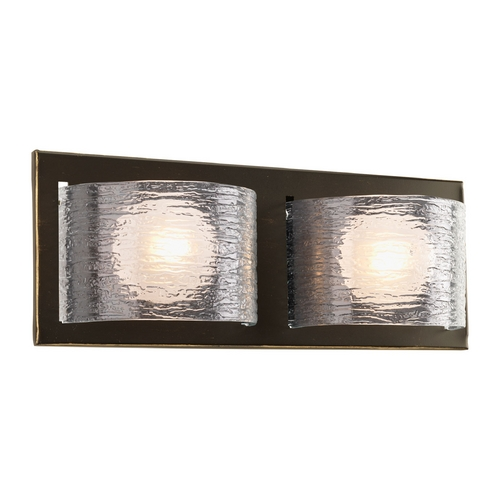 Progress Lighting Progress Modern Bathroom Light with Clear Glass in Bronze Finish P2844-20WB