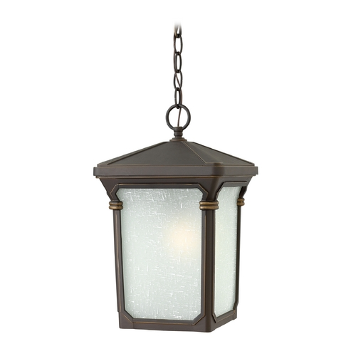 Hinkley Lighting Outdoor Hanging Light with White Glass in Oil Rubbed Bronze Finish 1352OZ