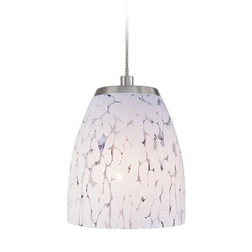 Elk Lighting Low Voltage LED Mini-Pendant Light with White Glass PF1000/1-LED-BN-SW
