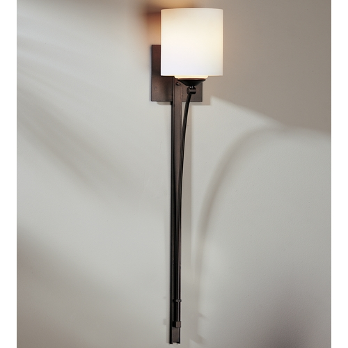 Hubbardton Forge Lighting Hubbardton Forge Lighting Formae Dark Smoke Sconce 204670-07-G169