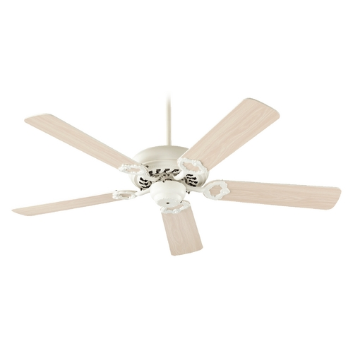 Quorum Lighting Quorum Lighting Monticello Antique White Ceiling Fan Without Light 17525-67