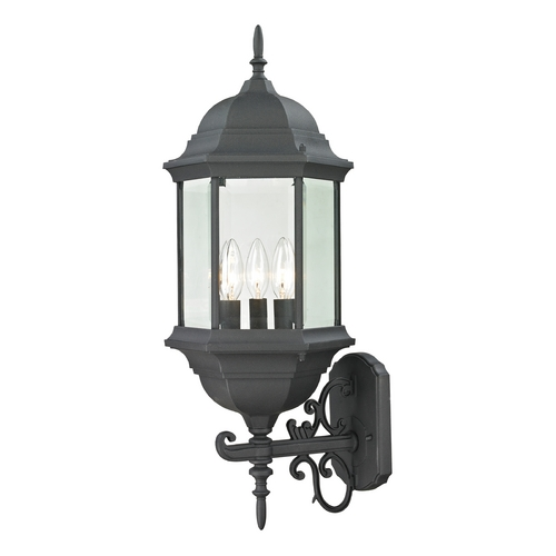 Thomas Lighting Thomas Lighting Spring Lake Matte Textured Black Outdoor Wall Light 8603EW/65