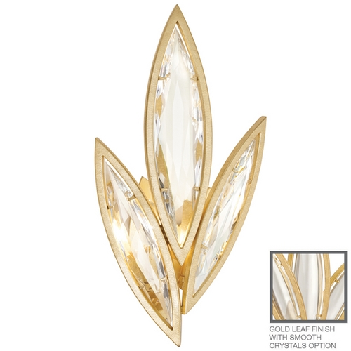 Fine Art Lamps Fine Art Lamps Marquise Florentine Brushed Gold Leaf Sconce 854250-21ST