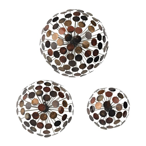 Sterling Lighting Set Of 3 Dandelion Wall Sculptures 138-115/S3