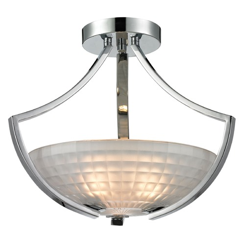 Elk Lighting Elk Lighting Sculptive Polished Chrome Semi-Flushmount Light 11761/3