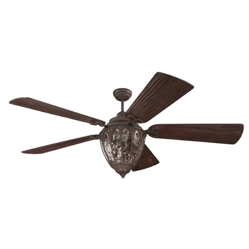 Craftmade Lighting Craftmade Lighting Olivier Aged Bronze Textured Ceiling Fan with Light K10337