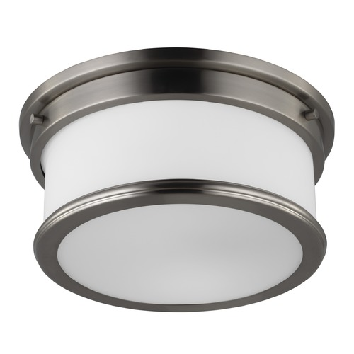 Feiss Lighting Feiss Lighting Payne Brushed Steel LED Flushmount Light FM399BS-LED