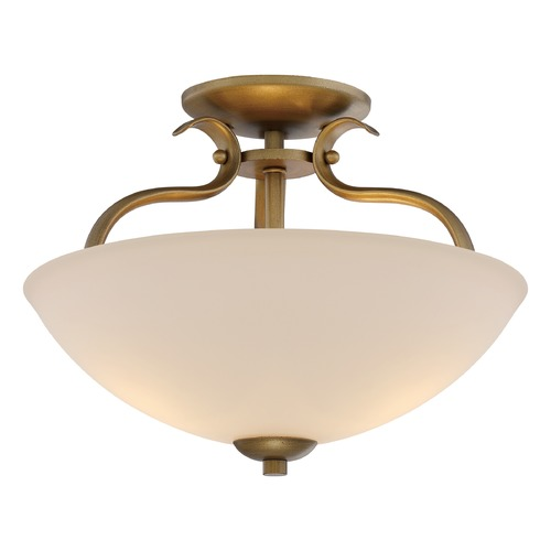 Nuvo Lighting Nuvo Lighting Dillard Natural Brass Semi-Flushmount Light 60/5816