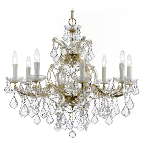 Crystorama Lighting Crystorama Lighting Maria Theresa Gold Crystal Chandelier 4408-GD-CL-SAQ