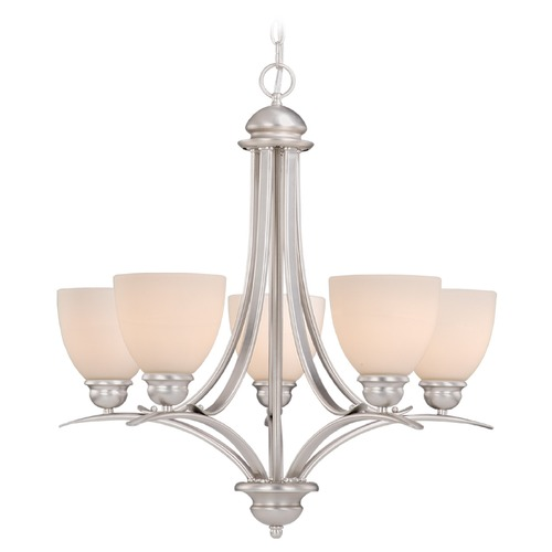 Amity 5l Pendant Brushed Chrome: Avalon Brushed Nickel Chandelier By Vaxcel Lighting