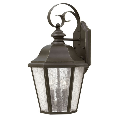 Hinkley LED Seeded Glass Bronze Outdoor Wall Light Seeded Glass 18 Inches Tall by Hinkley 1676OZ-LL