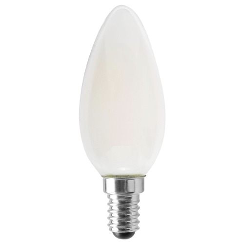 Satco Lighting Satco 4.5 Watt B11 LED Frosted 350 Lumens 4000K European Base 120 Volt Dimmable S12118
