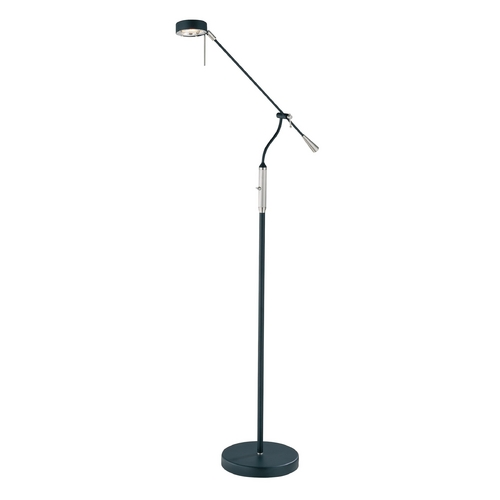 Lite Source Lighting Lite Source Lighting Alogene Black Floor Lamp with Cylindrical Shade LS-81165BLK/PS