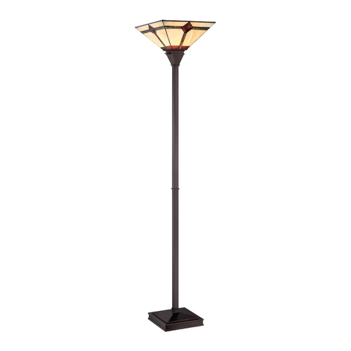 Lite Source Lighting Lite Source Lighting Karysa Bronze Torchiere Lamp with Square Shade LS-82041
