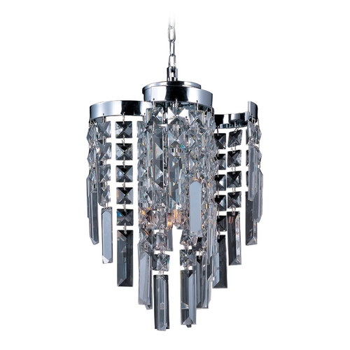 Maxim Lighting Mini-Pendant Light with Clear Glass in Polished Chrome Finish 39809BCPC
