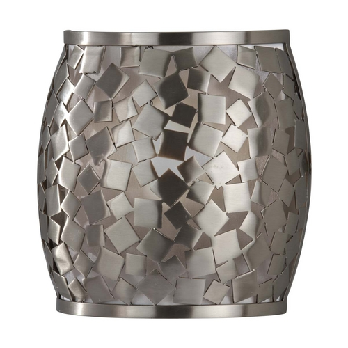Feiss Lighting Modern Sconce Wall Light with Silver Shade in Brushed Steel Finish WB1589BS
