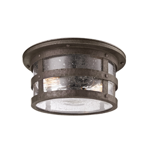 Troy Lighting Close To Ceiling Light with Clear Glass in Barbosa Bronze Finish CF3310