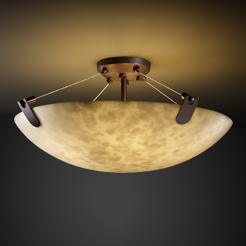 Justice Design Group Justice Design Group Clouds Collection Semi-Flushmount Light CLD-9612-35-DBRZ