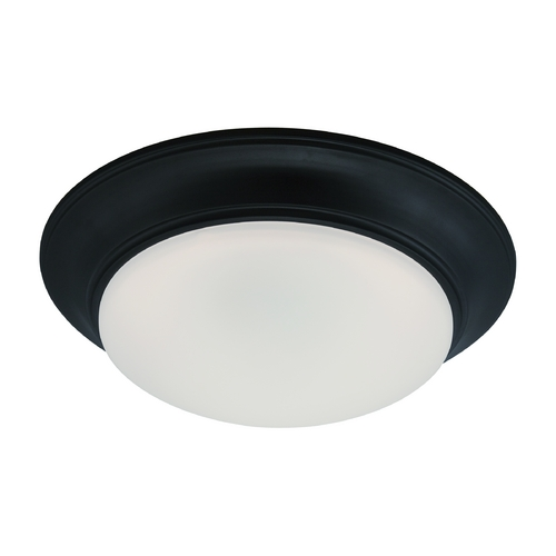 Designers Fountain Lighting LED Flushmount Light with White Glass in Oil Rubbed Bronze Finish LED201-ORB-FR