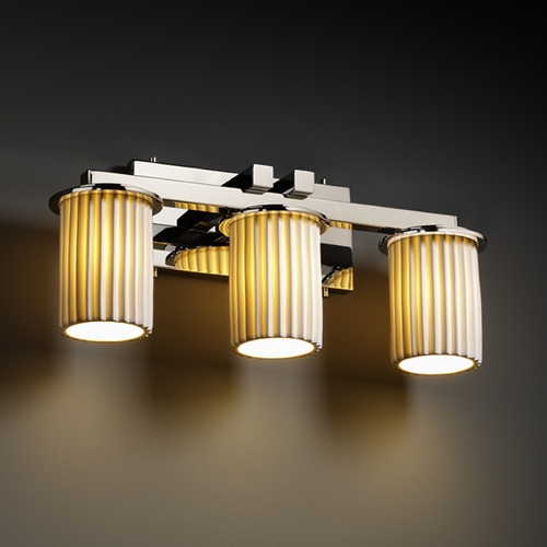 Justice Design Group Justice Design Group Limoges Collection Bathroom Light POR-8773-10-PLET-CROM