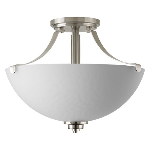 Progress Lighting Progress Lighting Legend Brushed Nickel Semi-Flushmount Light P2315-09