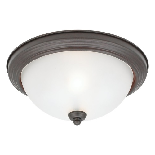 Sea Gull Lighting Sea Gull Lighting Ceiling Flush Mount Misted Bronze LED Flushmount Light 7716491S-814