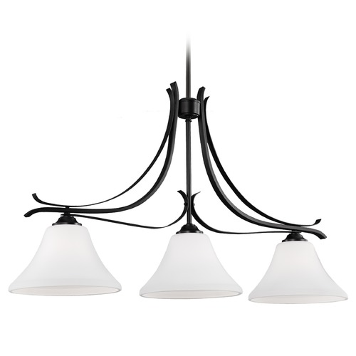 Feiss Lighting Feiss Lighting Summerdale Oil Rubbed Bronze Island Light with Bell Shade F2982/3ORB
